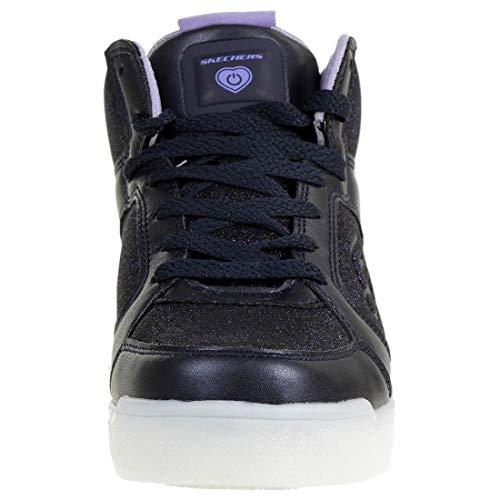 Skechers Mädchen Energy Lights: E-pro Glitter Glow Hohe Sneaker, Blau (Navy NVY), 33 EU - 2