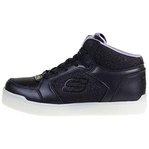 Skechers Mädchen Energy Lights: E-pro Glitter Glow Hohe Sneaker, Blau (Navy NVY), 33 EU - 3
