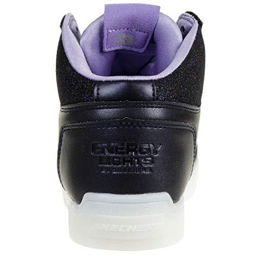 Skechers Mädchen Energy Lights: E-pro Glitter Glow Hohe Sneaker, Blau (Navy NVY), 33 EU - 4