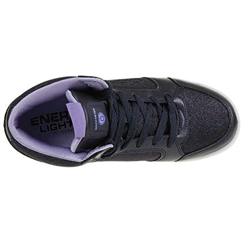 Skechers Mädchen Energy Lights: E-pro Glitter Glow Hohe Sneaker, Blau (Navy NVY), 33 EU - 6