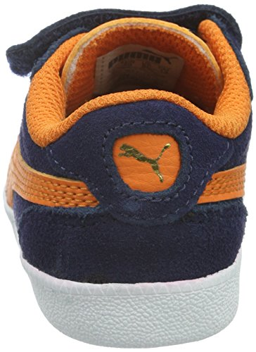 Puma Unisex-Kinder ICRA Trainer SD V INF Low-Top, Blau (Peacoat-Vibrant Orange 11), 27 EU - 2