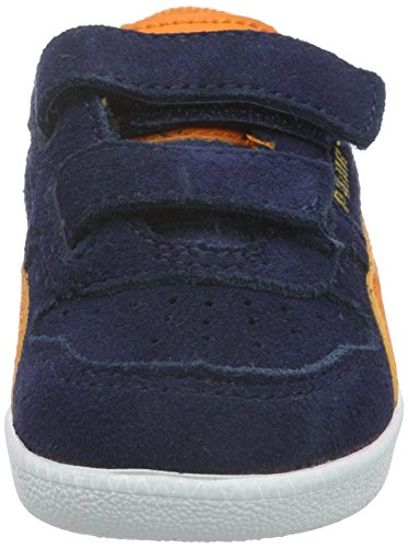 Puma Unisex-Kinder ICRA Trainer SD V INF Low-Top, Blau (Peacoat-Vibrant Orange 11), 27 EU - 4
