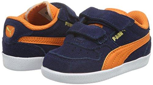 Puma Unisex-Kinder ICRA Trainer SD V INF Low-Top, Blau (Peacoat-Vibrant Orange 11), 27 EU - 5