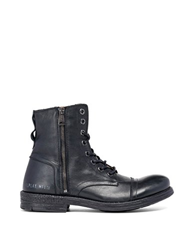 Replay Men's Leather Ankle Boots Black
