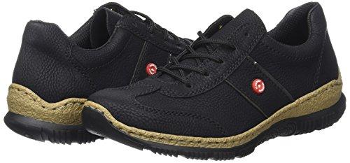 Rieker Damen N3220 Sneaker, (schwarz/fumo), 42 EU - 5