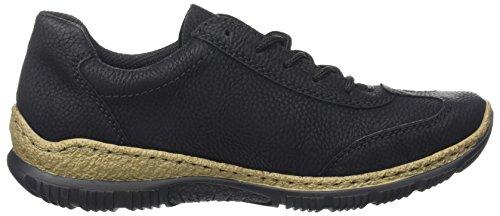 Rieker Damen N3220 Sneaker, (schwarz/fumo), 42 EU - 7