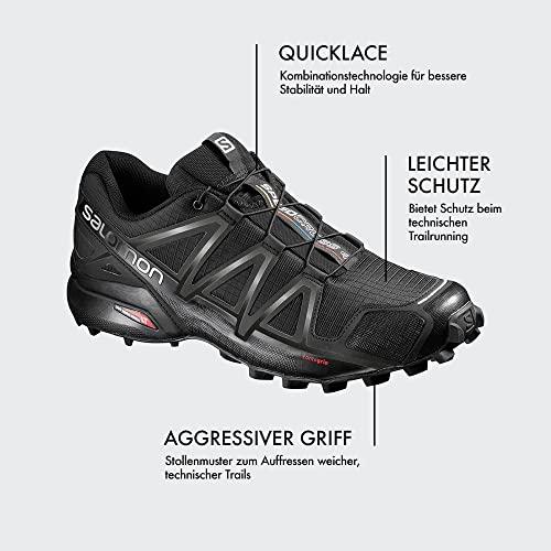 Herren Speedcross 4, Trailrunning-Schuhe, schwarz - 7