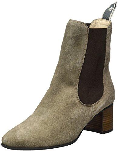 Marc O'Polo Damen Mid Heel Chelsea Boots, Braun