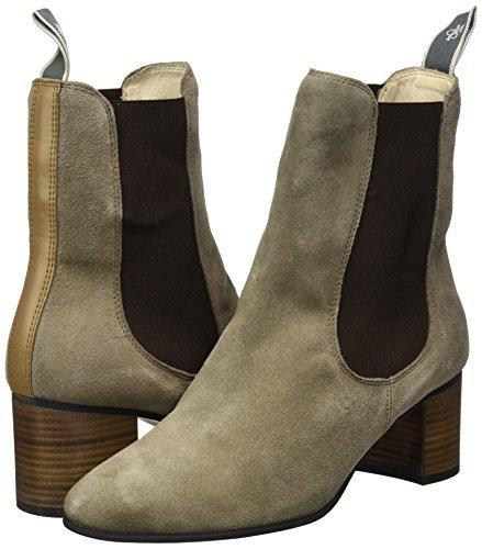 Marc O'Polo Damen Mid Heel Chelsea Boots, Braun - 7