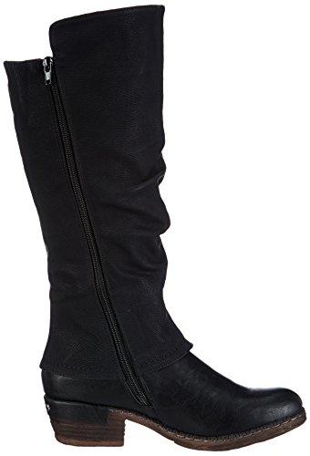 Rieker 93655 Damen Langschaft Stiefel, schwarz (schwarz/schwarz/kastanie/00), 41 - 6