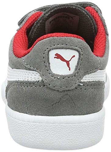 Puma Unisex-Kinder ICRA Trainer SD V PS Low-Top, Grau (Steel Gray White 14), 31 EU - 2