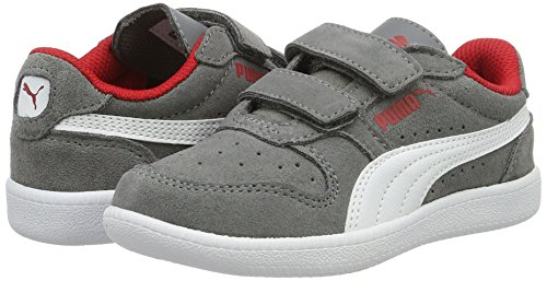 Puma Unisex-Kinder ICRA Trainer SD V PS Low-Top, Grau (Steel Gray White 14), 31 EU - 5