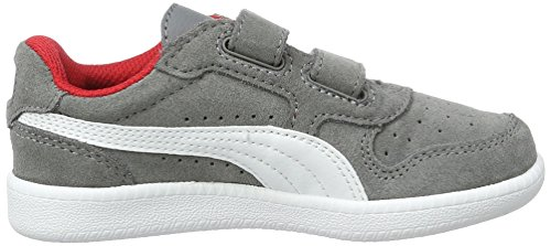 Puma Unisex-Kinder ICRA Trainer SD V PS Low-Top, Grau (Steel Gray White 14), 31 EU - 6