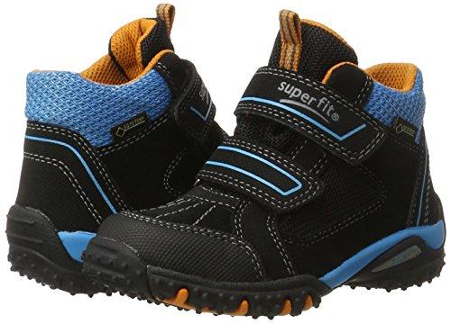 Superfit Jungen SPORT4 Hohe Sneaker, (Schwarz Multi), 32 EU - 7
