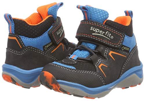 Superfit Jungen SPORT5 Hohe Sneaker, (Grau/Orange 20), 34 EU - 2