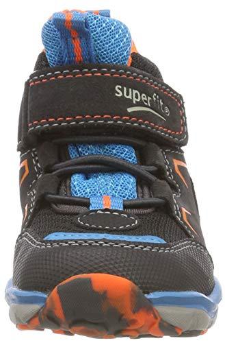Superfit Jungen SPORT5 Hohe Sneaker, (Grau/Orange 20), 34 EU - 3