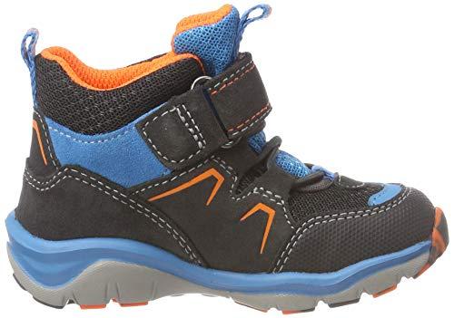 Superfit Jungen SPORT5 Hohe Sneaker, (Grau/Orange 20), 34 EU - 4