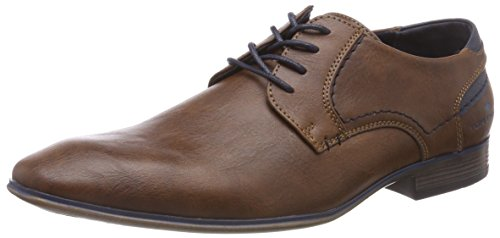 TOM TAILOR Herren Derbys, Braun (Cognac)