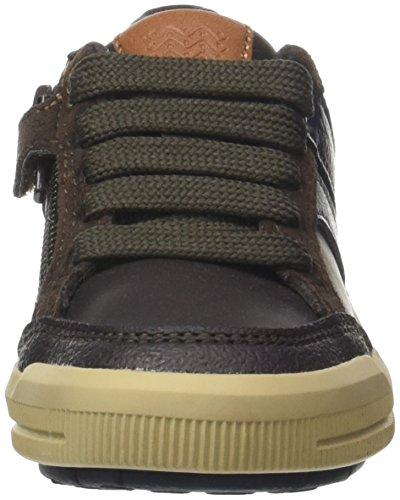 Geox Jungen J Arzach Boy I Sneaker, Braun (Brown/Navy), 36 EU - 2