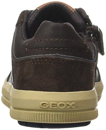 Geox Jungen J Arzach Boy I Sneaker, Braun (Brown/Navy), 36 EU - 3