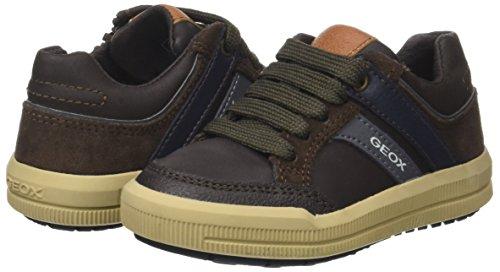 Geox Jungen J Arzach Boy I Sneaker, Braun (Brown/Navy), 36 EU - 5