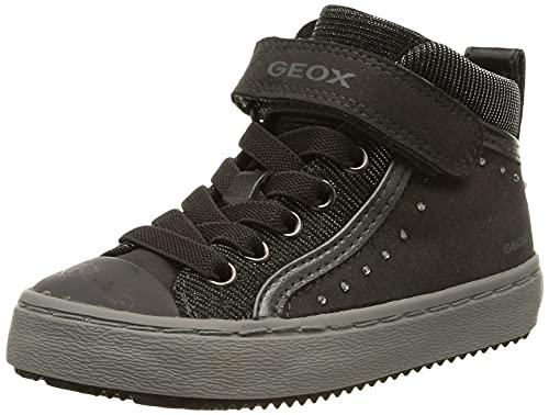 Geox Mädchen J Kalispera Girl I Hohe Sneaker, Grau