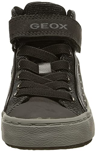 Geox Mädchen J Kalispera Girl I Hohe Sneaker, Grau (Dk Grey), 35 EU - 2