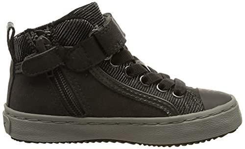 Geox Mädchen J Kalispera Girl I Hohe Sneaker, Grau (Dk Grey), 35 EU - 6
