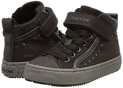 Geox Mädchen J Kalispera Girl I Hohe Sneaker, Grau (Dk Grey), 35 EU - 7