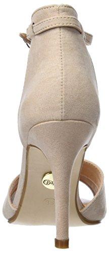 Buffalo Shoes 312339 IMI SUEDE PAT PU, Damen Knöchelriemchen Sandalen, Beige (NUDE 01), 37 EU - 3