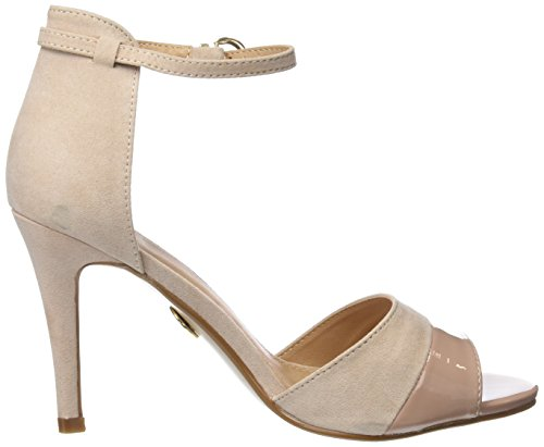 Buffalo Shoes 312339 IMI SUEDE PAT PU, Damen Knöchelriemchen Sandalen, Beige (NUDE 01), 37 EU - 6