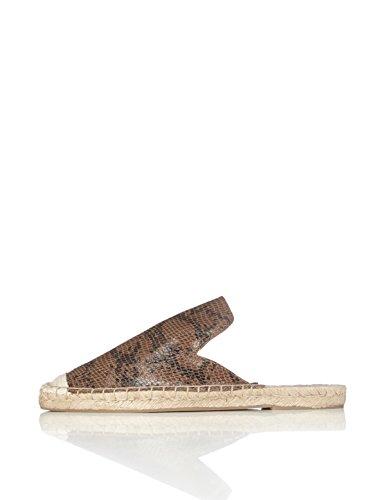 FIND Slippers Damen Espadrille-Design, Mehrfarbig (Snake)