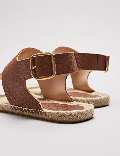 FIND Damen Sandalen mit Espadrilles-Sohle, Braun (Tan), 37 EU - 3