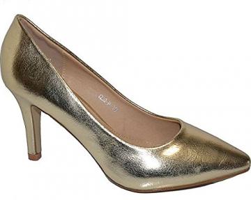 Damen Pumps Spitze Pastell High Heels Schuhe Lack Glitzer Elegant Peep-Toes Hochzeit Größe 39, Farbe Rot - 4