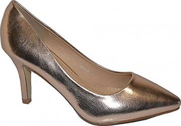 Damen Pumps Spitze Pastell High Heels Schuhe Lack Glitzer Elegant Peep-Toes Hochzeit Größe 39, Farbe Rot - 5