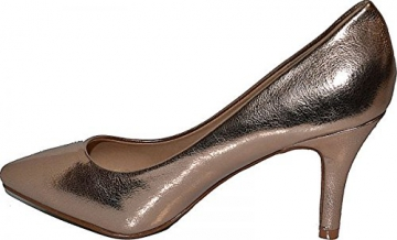 Damen Pumps Spitze Pastell High Heels Schuhe Lack Glitzer Elegant Peep-Toes Hochzeit Größe 39, Farbe Rot - 6
