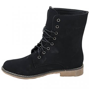 Damen Stiefeletten Stiefel Boots Schnürstiefel 1178 (39, 5208 schwarz) - 2