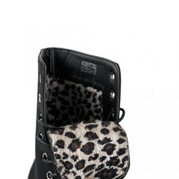 Damen Stiefeletten Stiefel Boots Schnürstiefel 1178 (39, 5208 schwarz) - 3