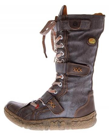 Leder Stiefel TMA Damen Winter Schuhe gefüttert Braun Damenstiefel im used look Gr. 39 - 2