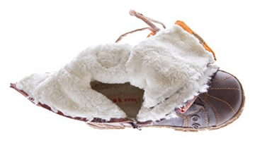 Leder Stiefel TMA Damen Winter Schuhe gefüttert Braun Damenstiefel im used look Gr. 39 - 5