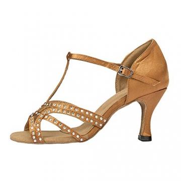 Moin Damen Latin Dance Shoes High Heel Sandale Ballschuhe Tanzschuhe - 3