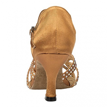 Moin Damen Latin Dance Shoes High Heel Sandale Ballschuhe Tanzschuhe - 4