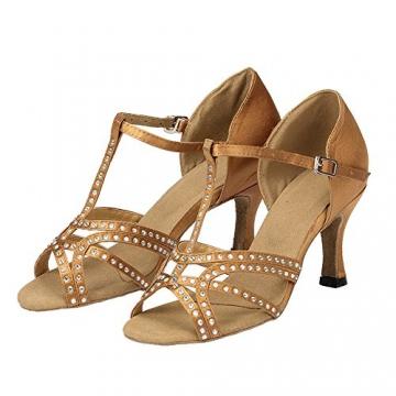Moin Damen Latin Dance Shoes High Heel Sandale Ballschuhe Tanzschuhe - 6