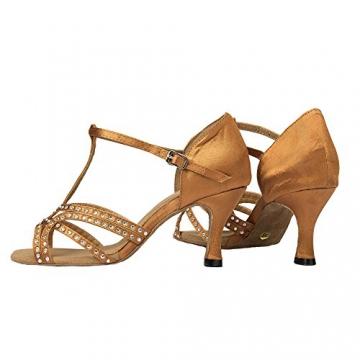 Moin Damen Latin Dance Shoes High Heel Sandale Ballschuhe Tanzschuhe - 7