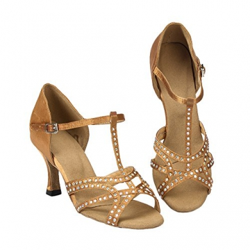 Moin Damen Latin Dance Shoes High Heel Sandale Ballschuhe Tanzschuhe - 8