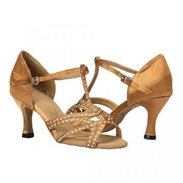 Moin Damen Latin Dance Shoes High Heel Sandale Ballschuhe Tanzschuhe - 9
