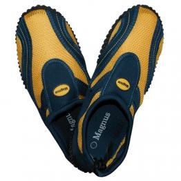 1 Paar Herren Aquaschuhe, blau / gelb, Größe:42, Badeschuhe, Surfschuhe, Schuhe, 0889 - 1