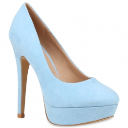 Damen Pumps High Heels - Hellblau