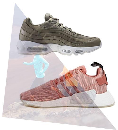 Sneaker mit Statementsohle im 90er Jahre Stil